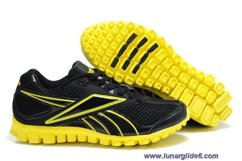 109e20cb41 Reebok RealFlex Black Yellow Men s Running Shoes Sale