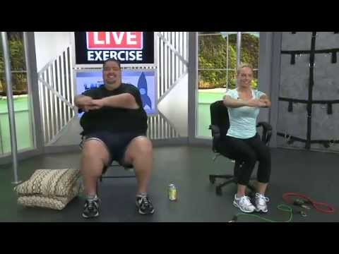 2 seated exercise for obesity and limited mobility