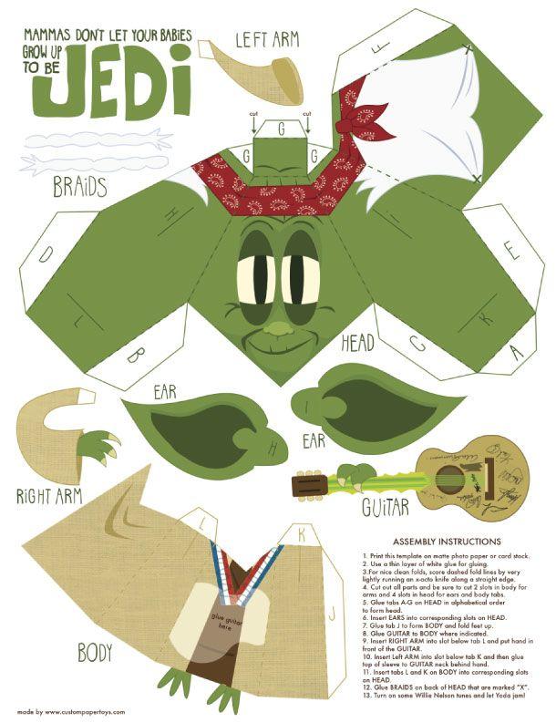 Yoda Mashup Papertoy de Matt Hawkins   Papel