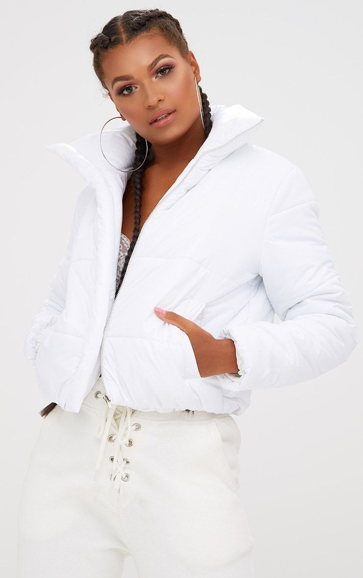 264e5be667bf White Puffer Jacket in 2019