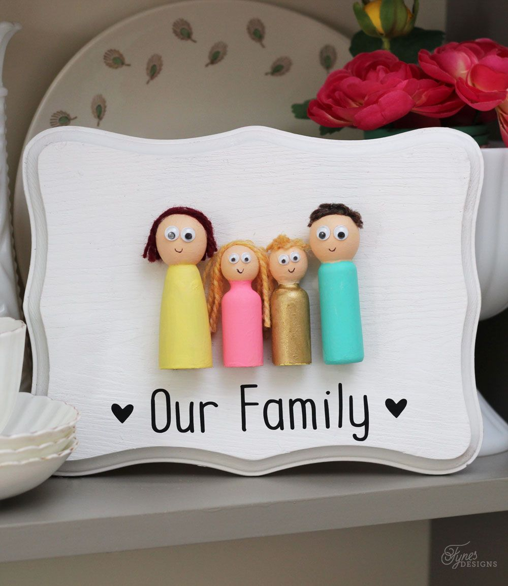 Kids Craft Peg Doll Family Family crafts, Crafts