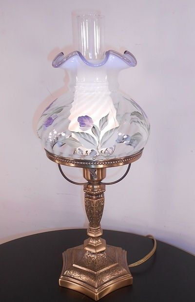 Retired fenton student lamp lavender crest opalescent glass swirl retired fenton student lamp lavender crest opalescent glass swirl shade mint aloadofball Gallery