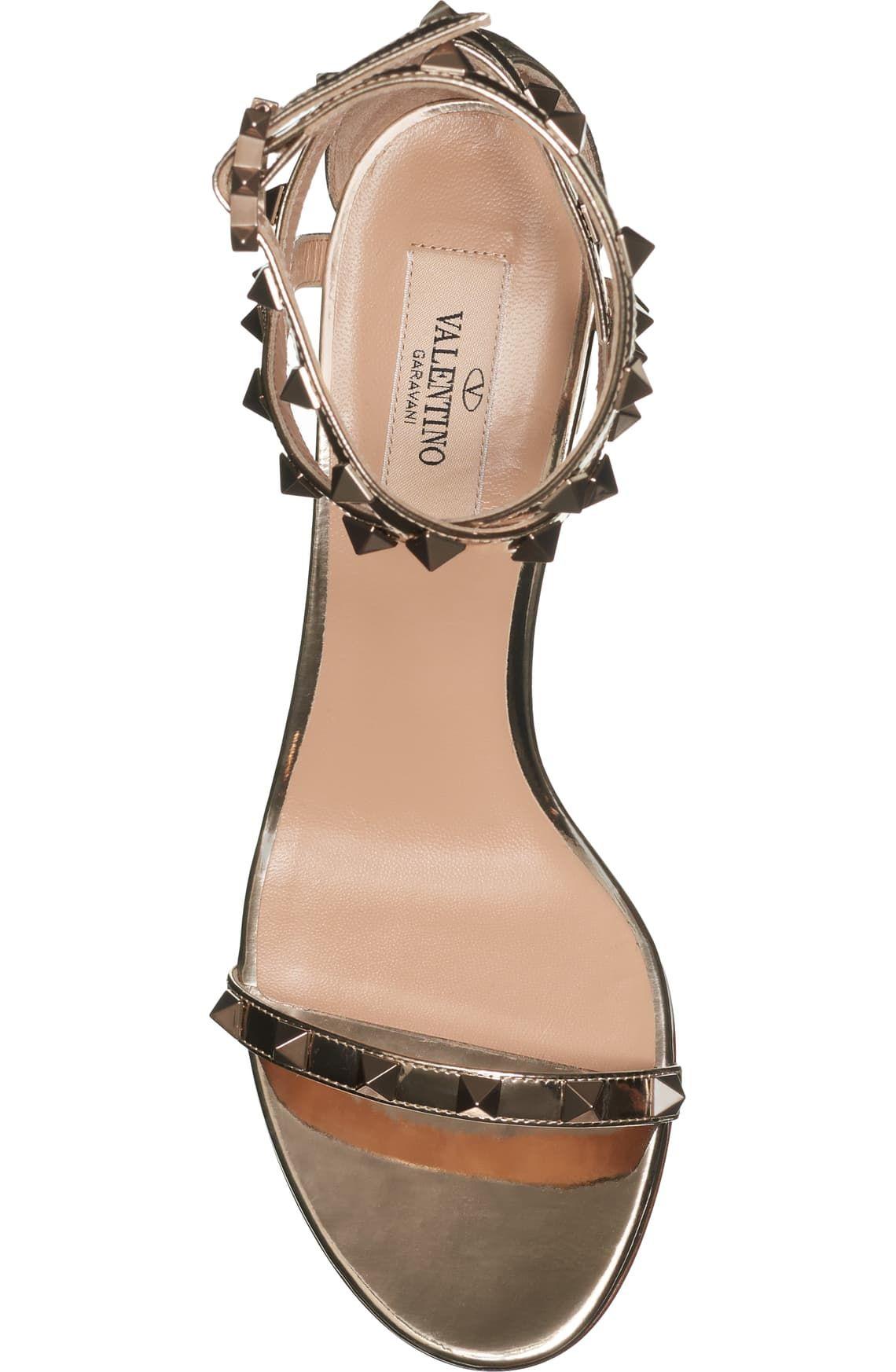 Valentino Womens Rockstud Triple-Strap Sandals ($1,075