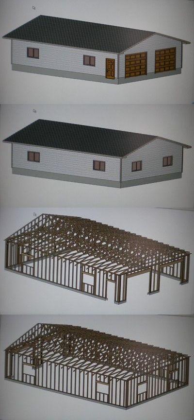 Building Plans and Blueprints 42130 28 X 40 Garage Shop Plans