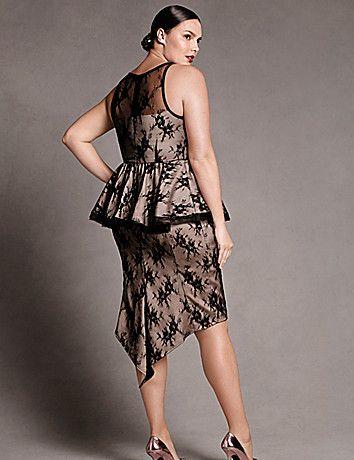 Lane Bryant   Lace Peplum Dress by Isabel Toledo   DESIGNER ...
