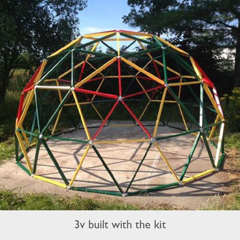 Hubs Are Simple To Snap Together Joints That Make Durable Geodesic Domes Quick And Easy To Build The Kit Contains Eve Geodesic Dome Geodesic Dome Kit Geodesic