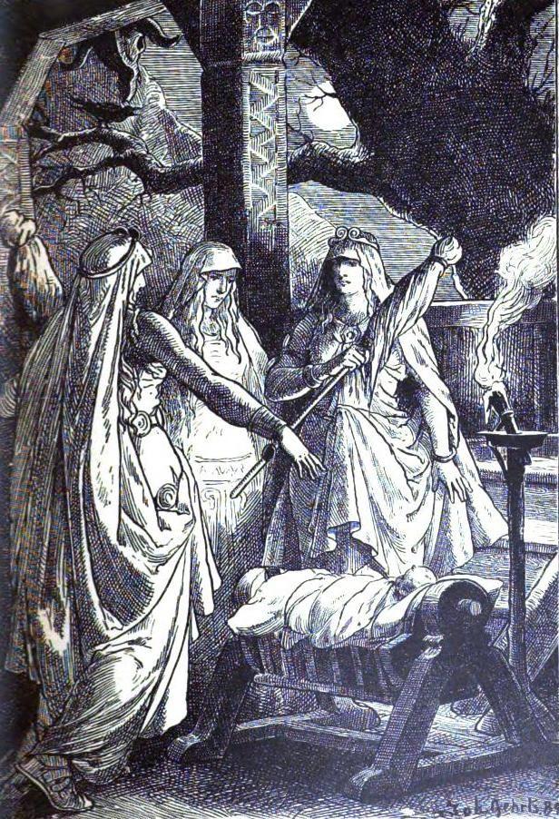 The Norns Norse Mythology Mythology Illustration