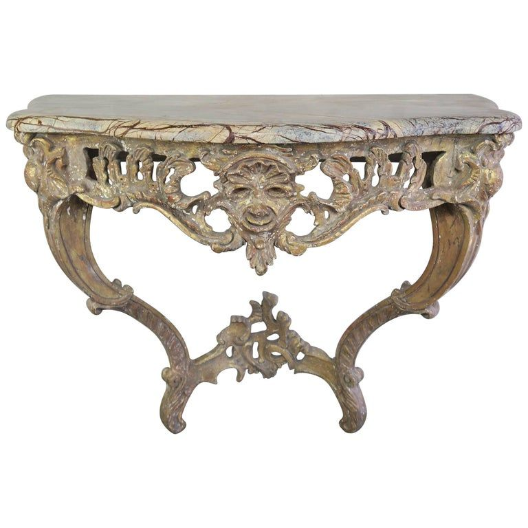 French Giltwood Console With Marble Top Circa 1930s In 2020 How To Clean Furniture Marble Top Modern Console Tables