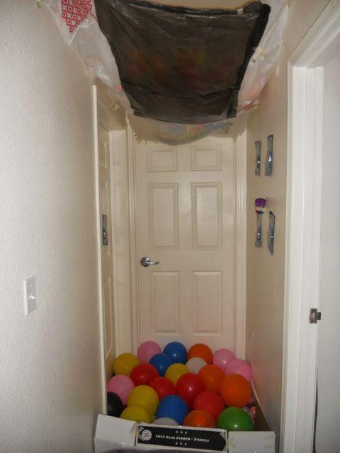 College Birthday Surprise Birthday Balloon Surprise Best Birthday Surprises Birthday Door Decorations