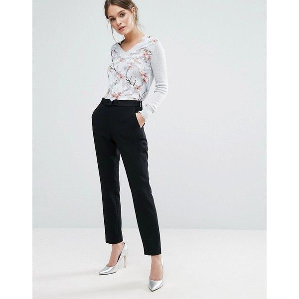a4625eaef Ted Baker Zeevat Cigarette Trousers ( 145) ❤ liked on Polyvore featuring  pants