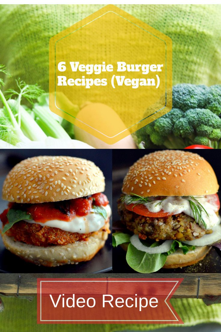 6 Veggie Burger Recipes (Vegan) images