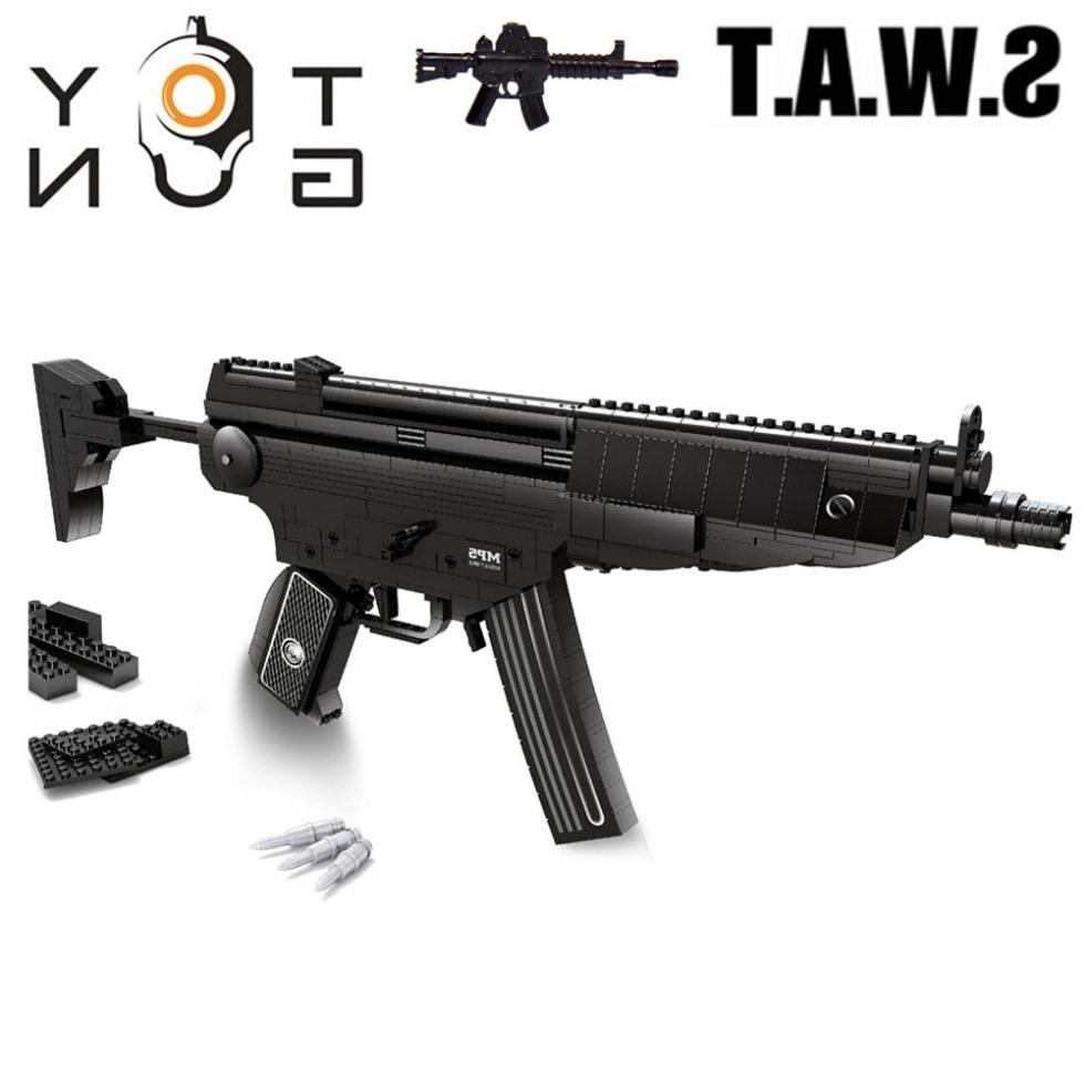 36.98$  Watch here - https://alitems.com/g/1e8d114494b01f4c715516525dc3e8/?i=5&ulp=https%3A%2F%2Fwww.aliexpress.com%2Fitem%2FMP5-Submachine-Sniper-Assault-Rifle-GUN-Weapon-Model-1-1-3D-DIY-Building-Blocks-Bricks-Children%2F32497588962.html - AUSINI SWAT CITY MP5 Submachine Sniper Assault Rifle GUN Weapon Model 1:1 3D DIY Building Blocks Bricks Children Toys Gifts 36.98$