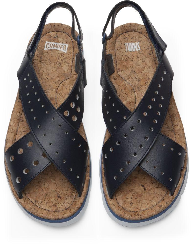 huge discount 4eec7 d100e Camper Twins Blue Sandals Women K200445-002 | Shop ...