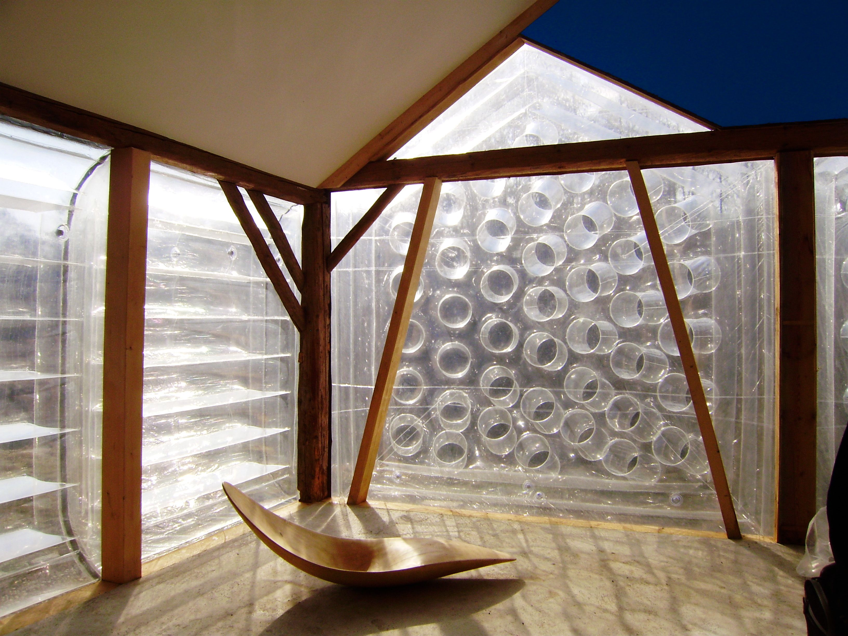 Inflatable Room Wandauge Old Barn Modified With Inflatable Pneumocell Window