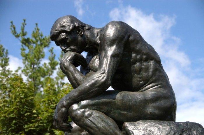 O Pensador. Rodin. Divulgação.