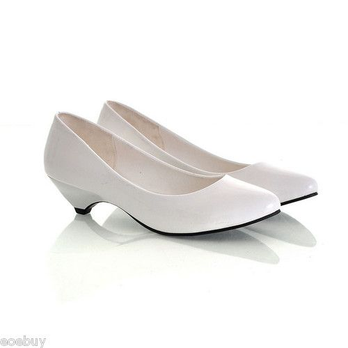 Low heel shoes, Patent leather pumps