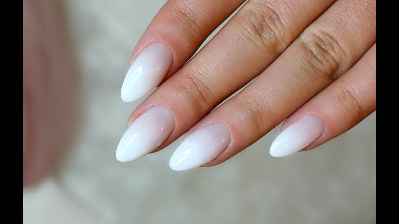 Baby Boomer Almond Nails Almond Nails Almondnails French Mit
