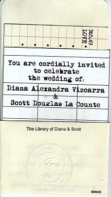 Library themed wedding.