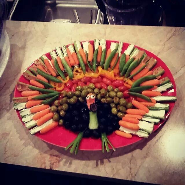 Decorative Relish Tray For Thanksgiving Prepossessing Turkey Relish Tray I Made On Thanksgiving  Thanksgiving Decorating Inspiration