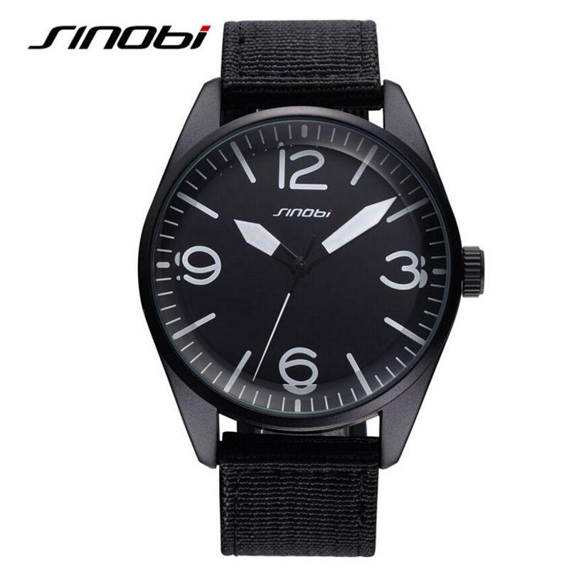 >> Click to Buy << Fashion SINOBI Watch Men Nylon Strap Sports Watch Waterproof Military Watches Male Clock Hour relogio masculino reloj hombre #Affiliate