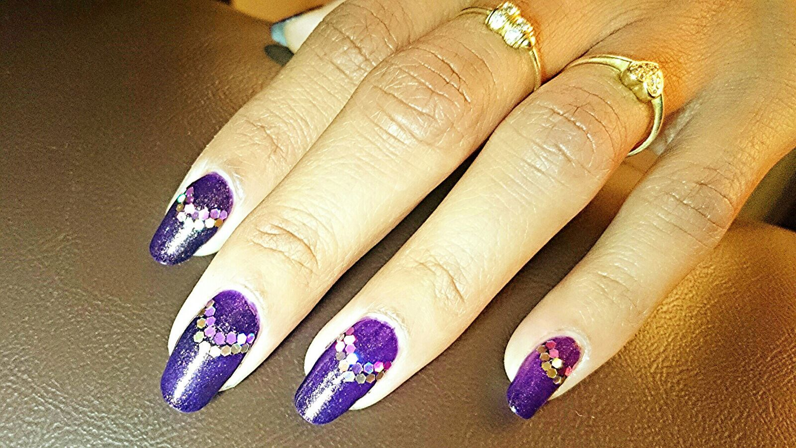 Holo Glitter Purple Nail Art Extreme Holo Glittery Nails By
