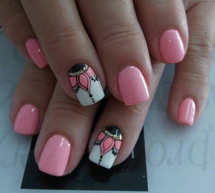 Pin De Kathy Cook En Nails Uñas Cencillas Uñas Decoradas