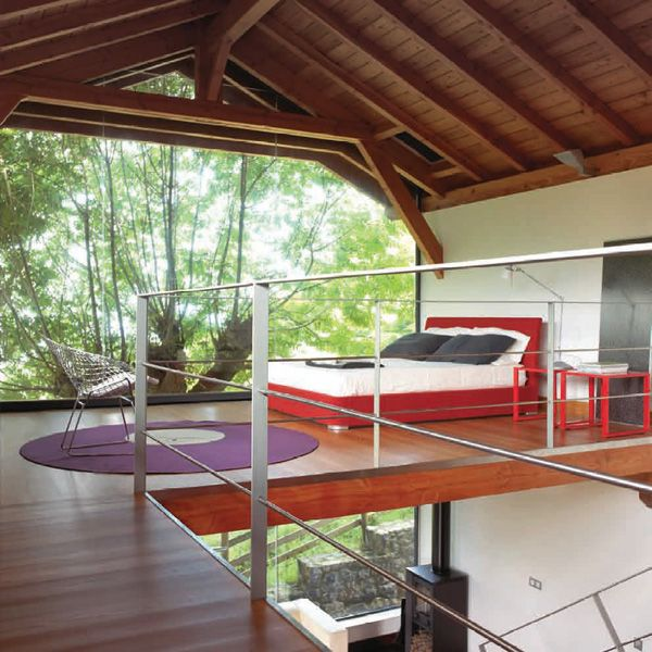 open concept bedroom | tree houses