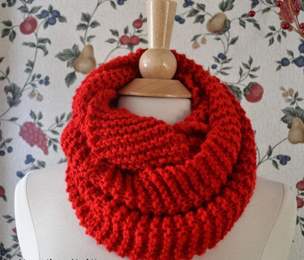Basic Knit Infinity Scarf   Infinity scarf knitting ...