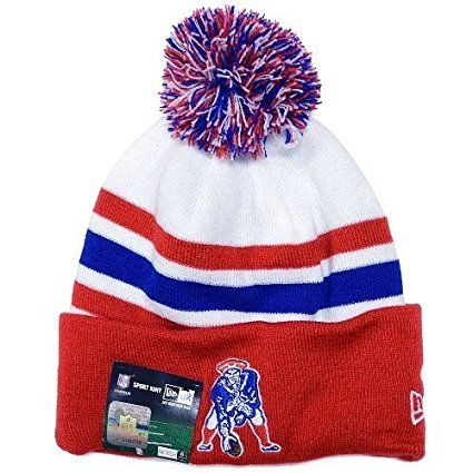 ... low cost amazon new england patriots new era throwback on field  embroidered beanie fold cap 0adf7 414ac54c0