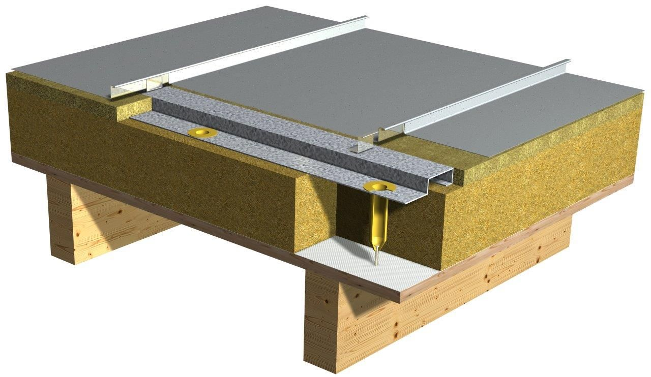 Vieo Is A Long Strip Metal Roof With A Flat Pan And A
