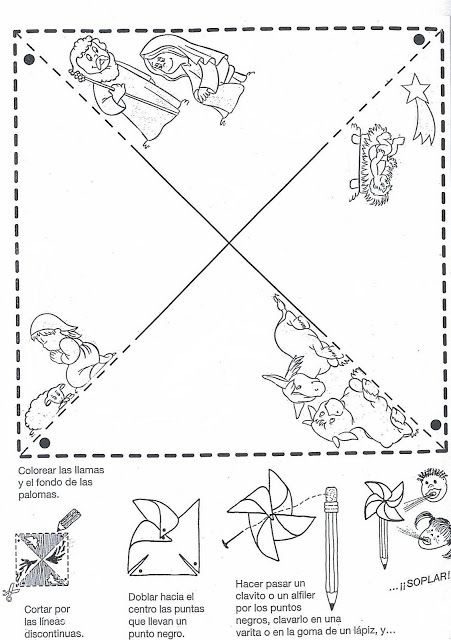 MOLINILLO BELEN BYN.jpg (451×640) | Historias Bíblicas para colorear ...