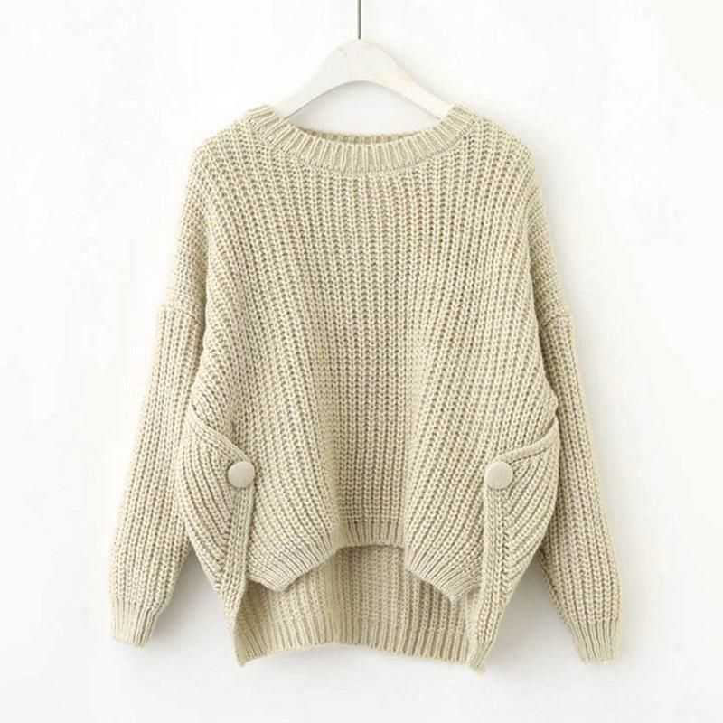 New O Neck Autumn Women Sweaters And Pullovers Casual Loose Short ...