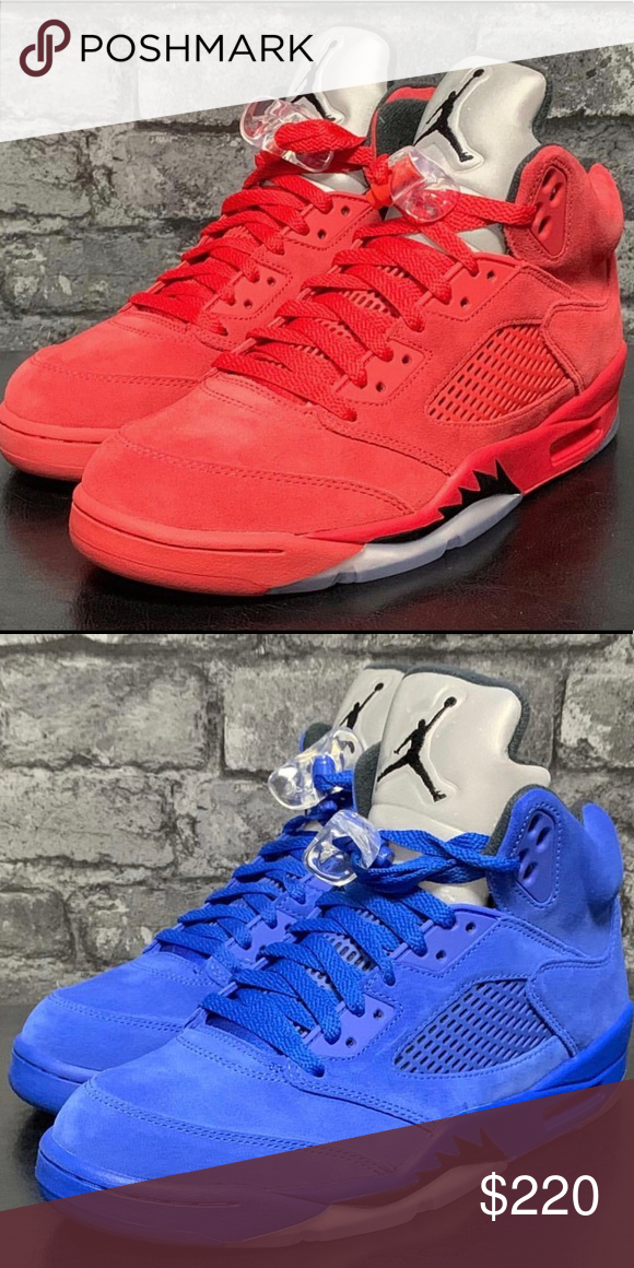 half off c33ee 5f766 Blue suede 5s & Red suede 5s ALL OUR SHOES ARE BRAND NEW ...