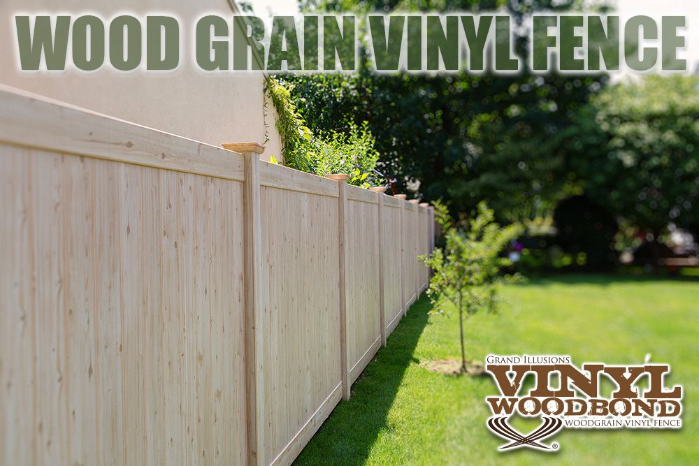Need a great fence idea? How about wood grain vinyl fence