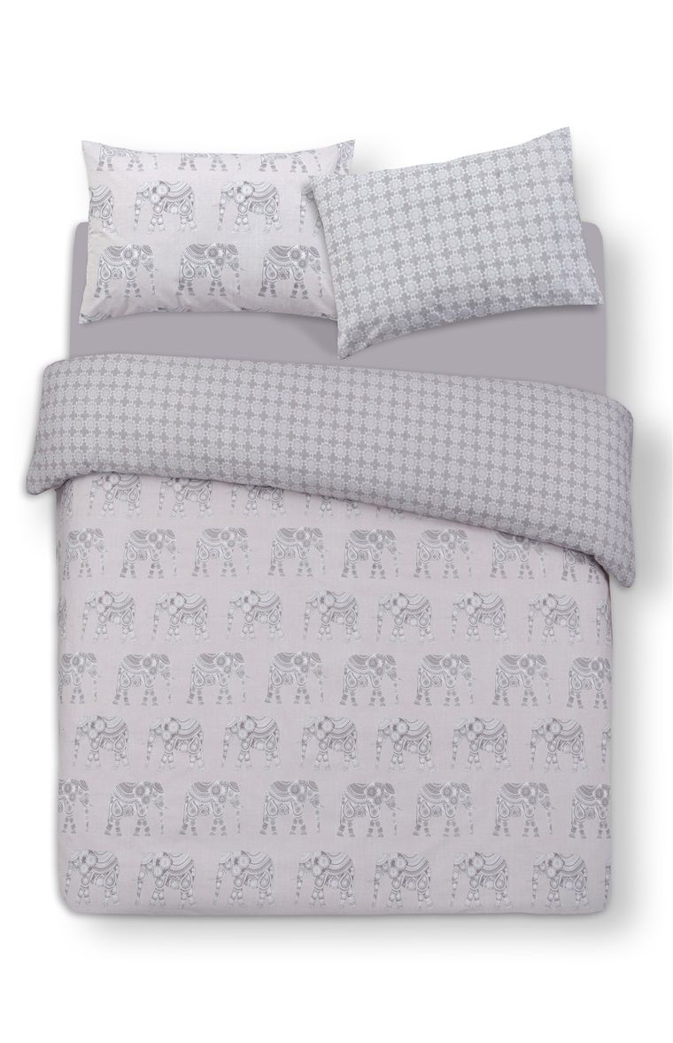 primark kingsize dekbedovertrek met olifantprint. Black Bedroom Furniture Sets. Home Design Ideas