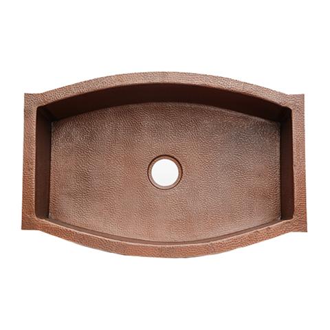 33 Squared Oval Copper Kitchen Sink By Soluna Copper Kitchen