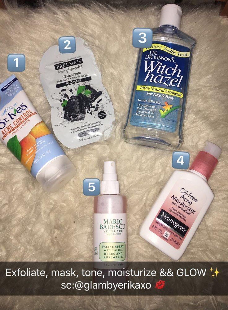 My skincare routine ✨ follow me @glambyerikaxo for more #SkinCareSteps -   11 skin care Routine for acne ideas