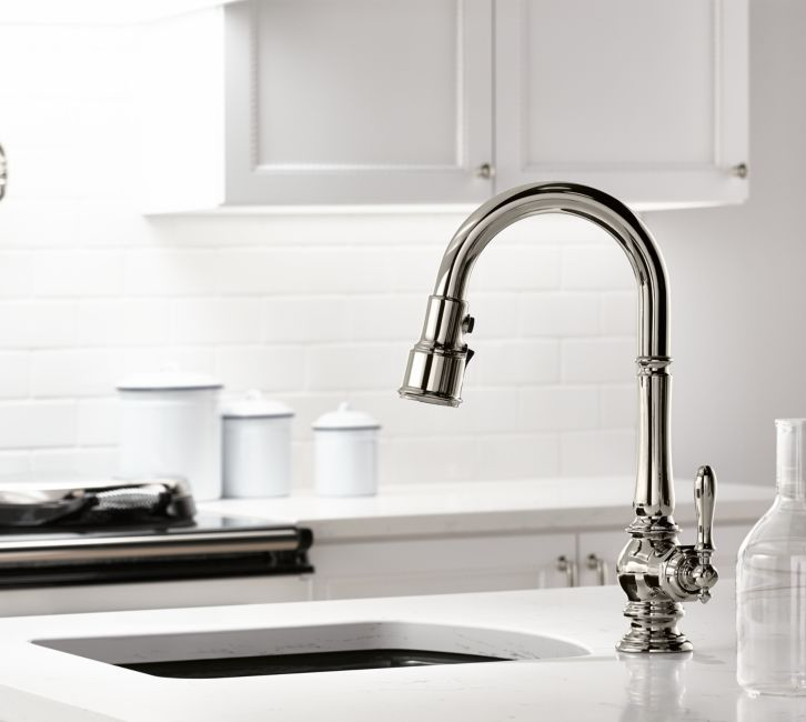 Kitchen Sinks And Faucets Designs: KOHLER Artifacts Pull-Down Kitchen Sink Faucet Is One Of