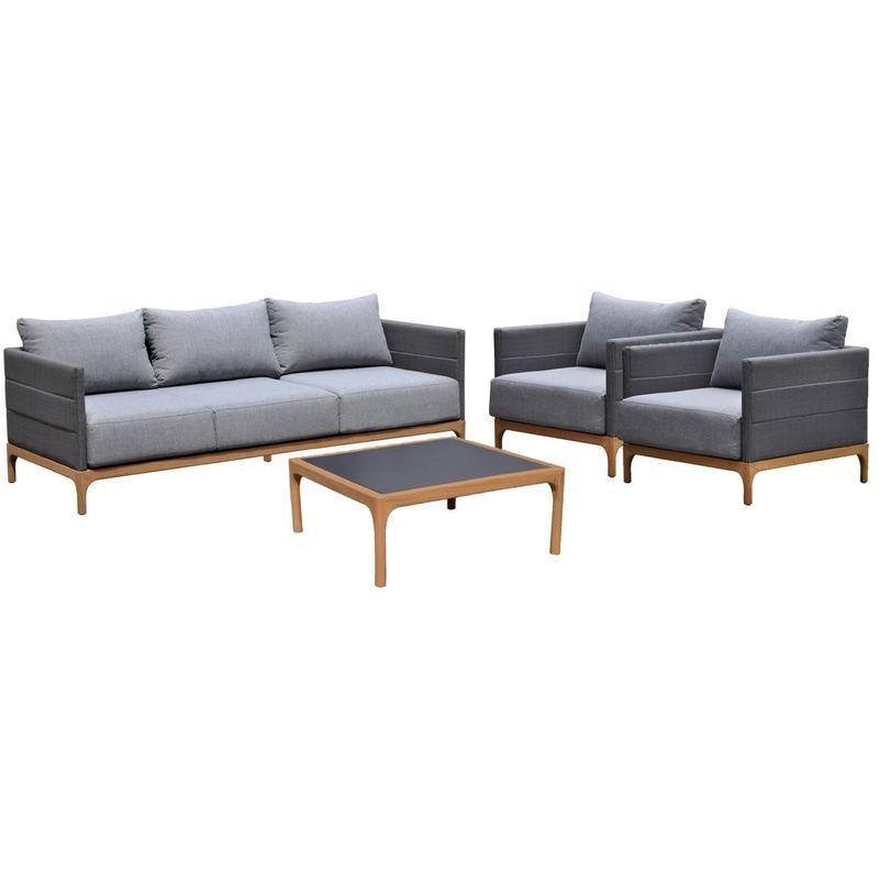 Salon De Jardin En Teck Massif Noto Delorm In 2019 Furniture Outdoor Furniture Home Decor