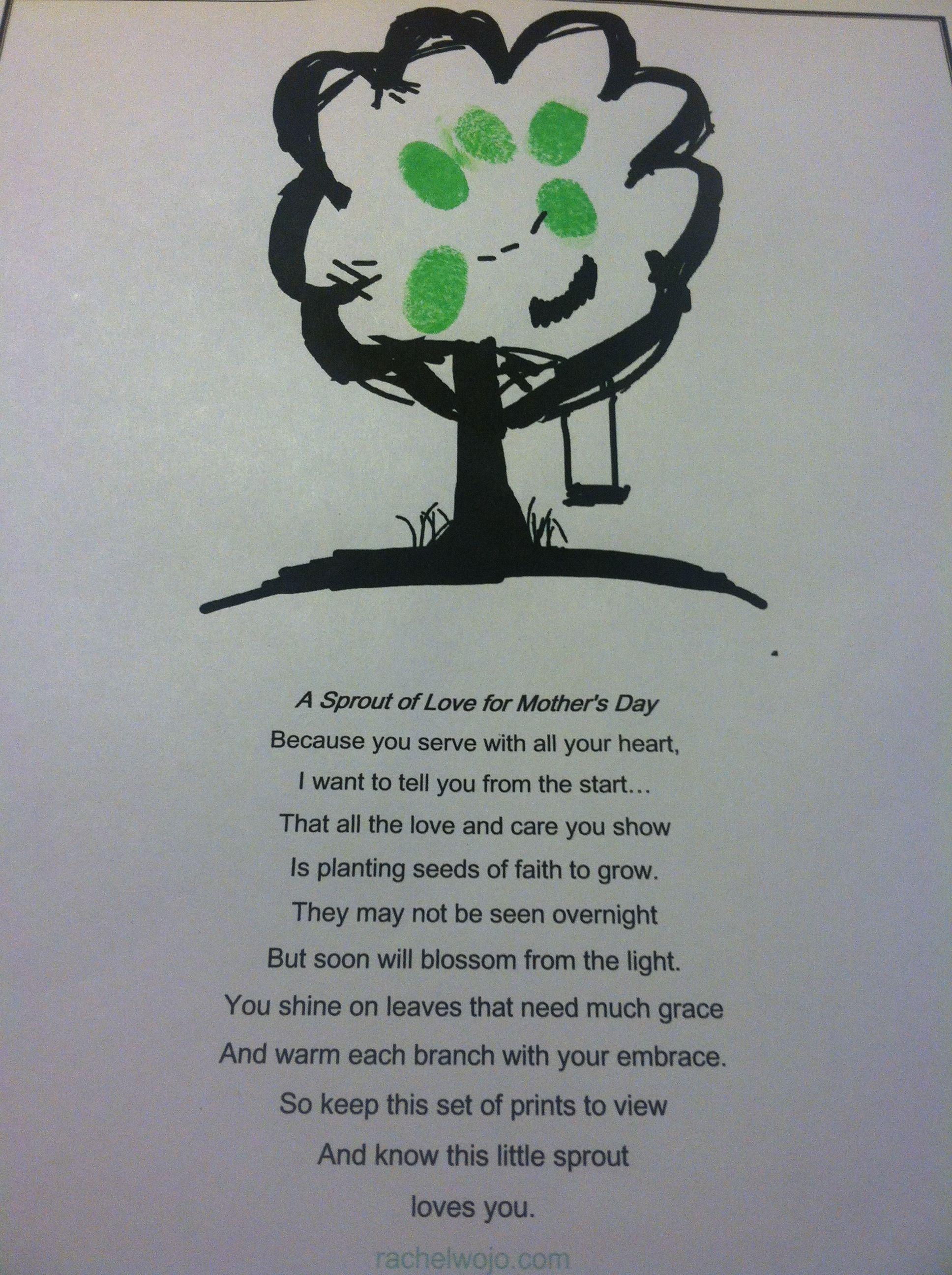 Mother S Day Poem Craft