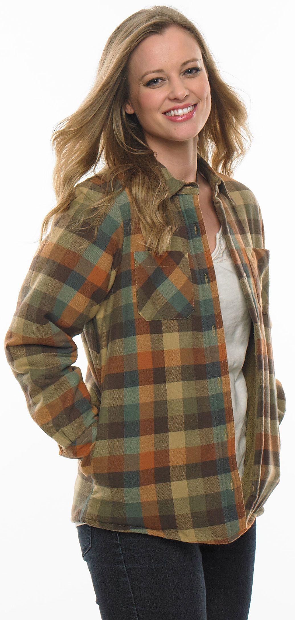 Womenus Open Country Plaid Shirt Jacket LegendaryWhitetails
