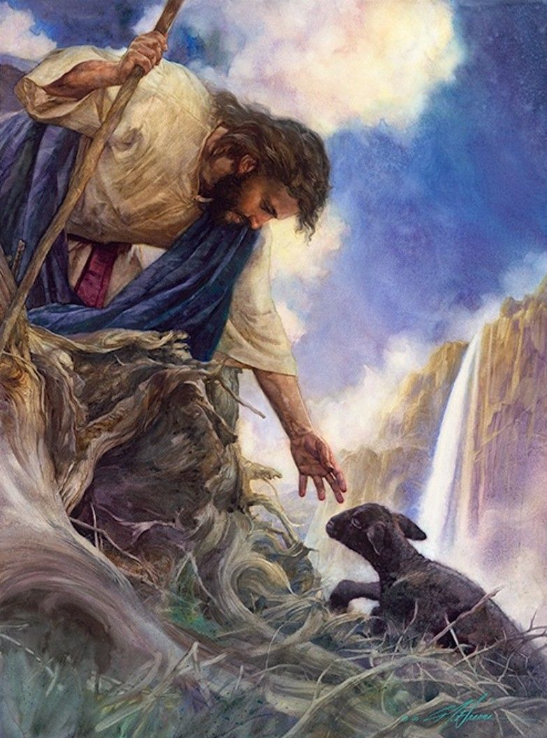 Image result for Christ and the lost sheep