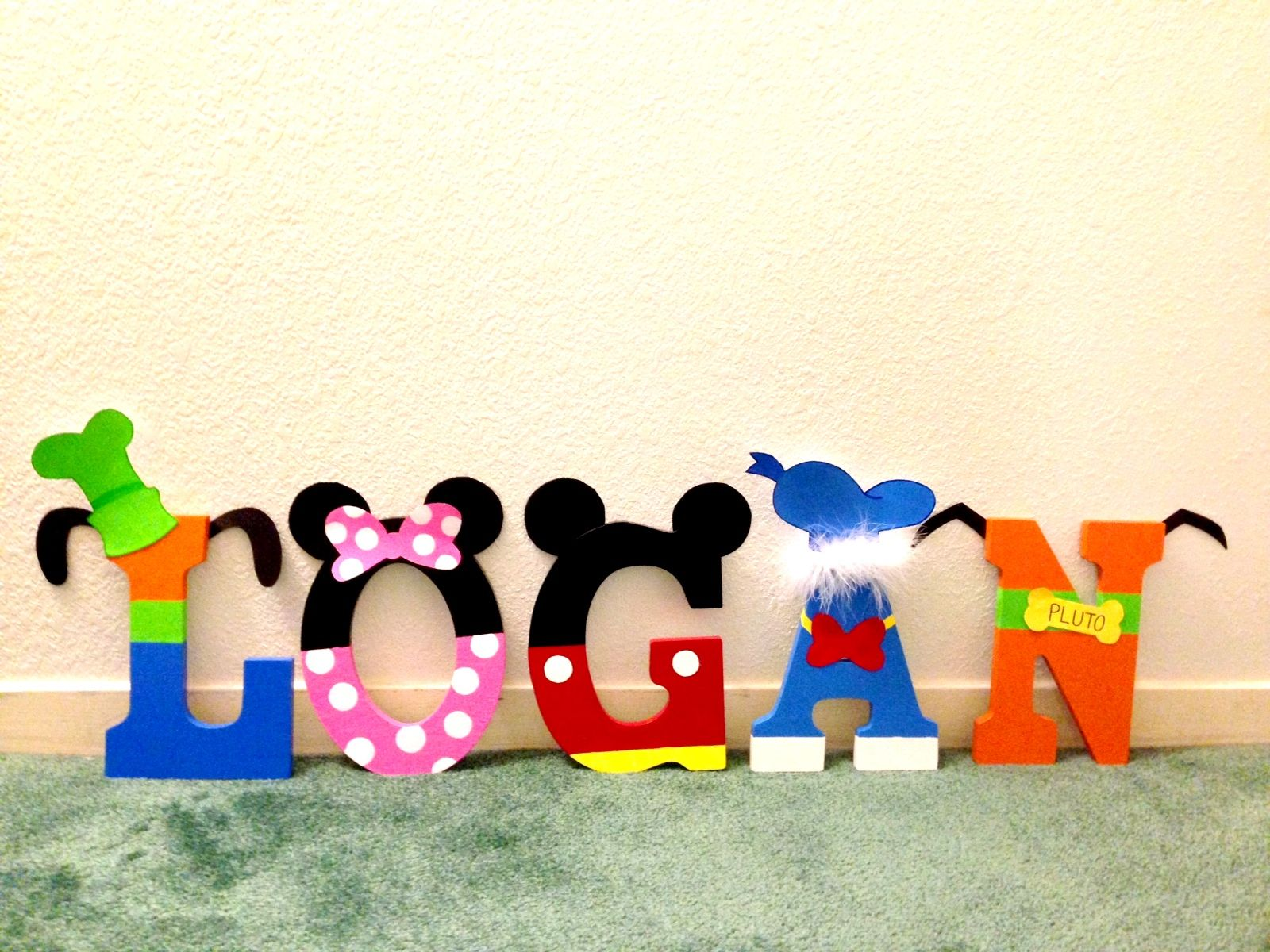 Mickey Mouse clubhouse | Candied Confections wood letters | Pinterest