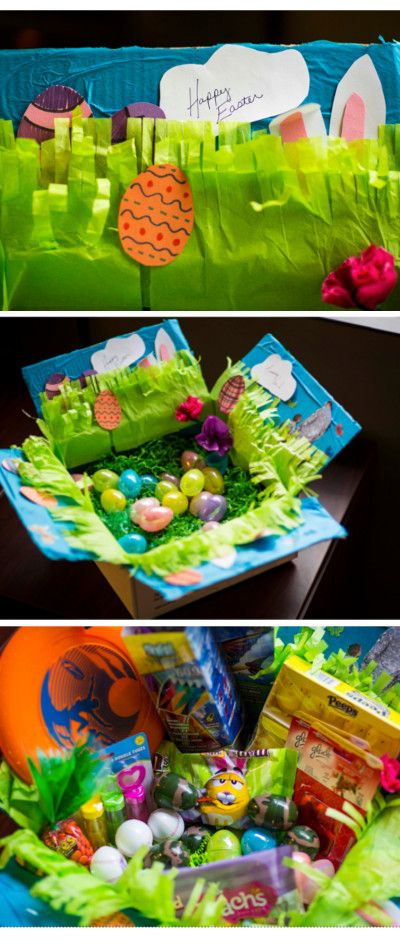 Easter care package decorating idea diy pinterest easter easter care package decorating idea care package decoratingdeployment care packagesmilitary negle Choice Image