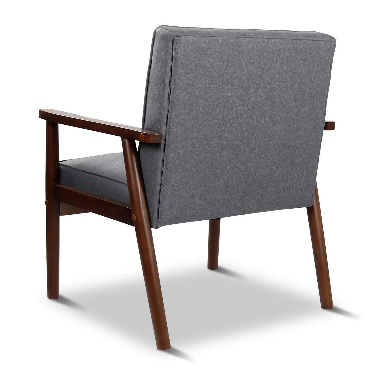 Amazon Com Joybase Mid Century Retro Modern Accent Chair Wood