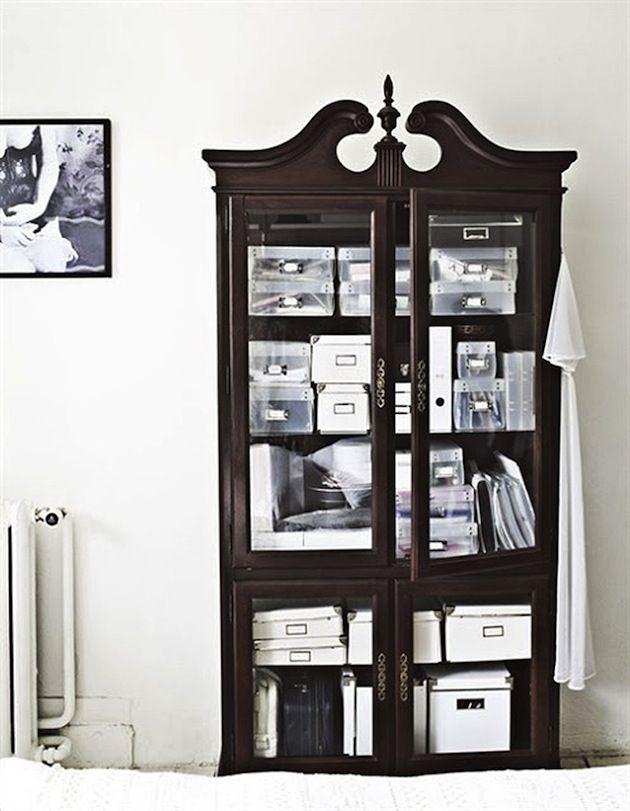 Dark wood dresser on the Interior Collective
