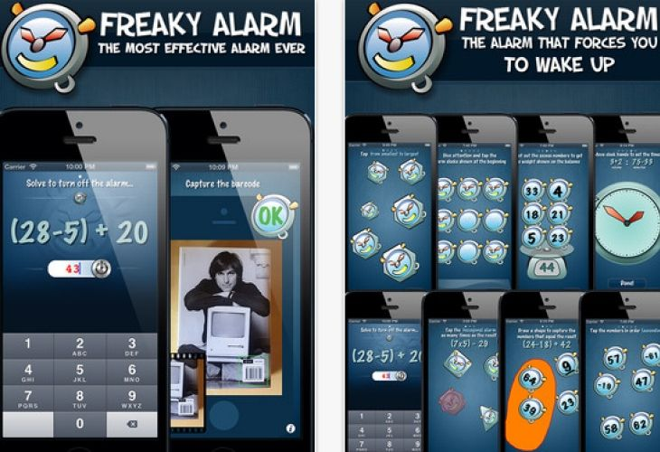 The iPhone alarm clock with an evil twist...alarm doesn\'t switch off ...