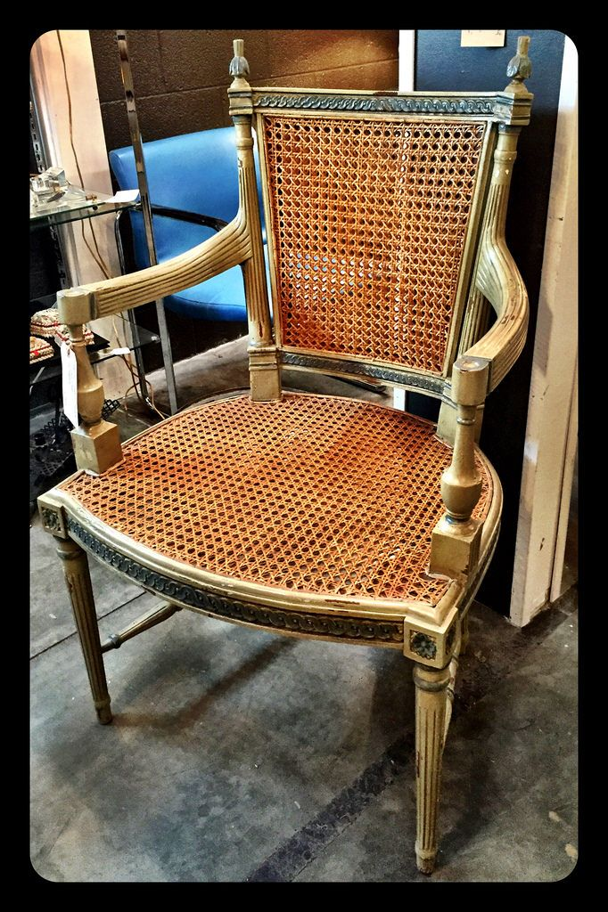 American Classics, Norfolk, VA, Caned Chair in Mahogany, $300.  Gaslamp Antiques Too, booth T195.