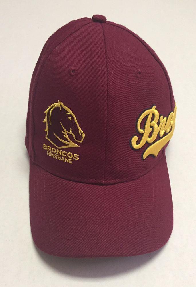 Brisbane Broncos Hat Australia Baseball Cap National Rugby League NRL  Queensland  TeamNRL fd242b2b4d0