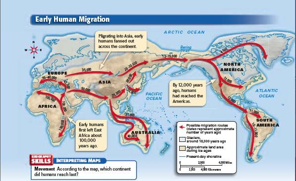 mrsgeib early human migration map human migrations pinterest early humans human family. Black Bedroom Furniture Sets. Home Design Ideas